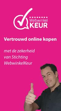 Wij zijn aangesloten bij WebwinkelKeur