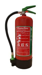 Flameline 6 liter schuimblusser voor A, B en F branden, afbeelding voorzijde