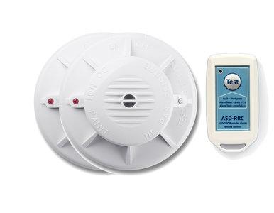 Fito ASD-10QR draadloos koppelbare rookmelder set met afstandbediening